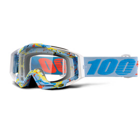 100% Racecraft Anti Fog Clear Maschera turchese/petrolio